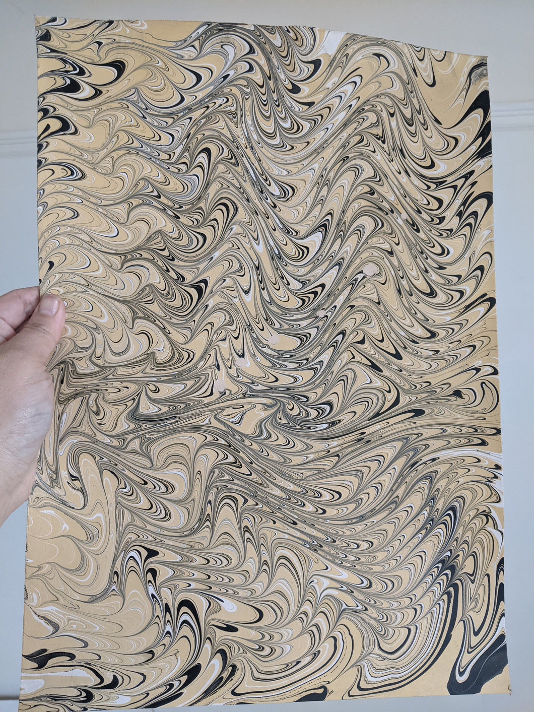 2/3 oz Marbled Veg Tan Leather Panel 11x16