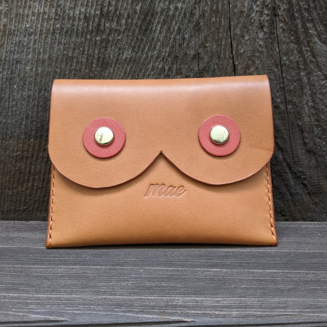 Body Love Coin Purse in Natural Tan