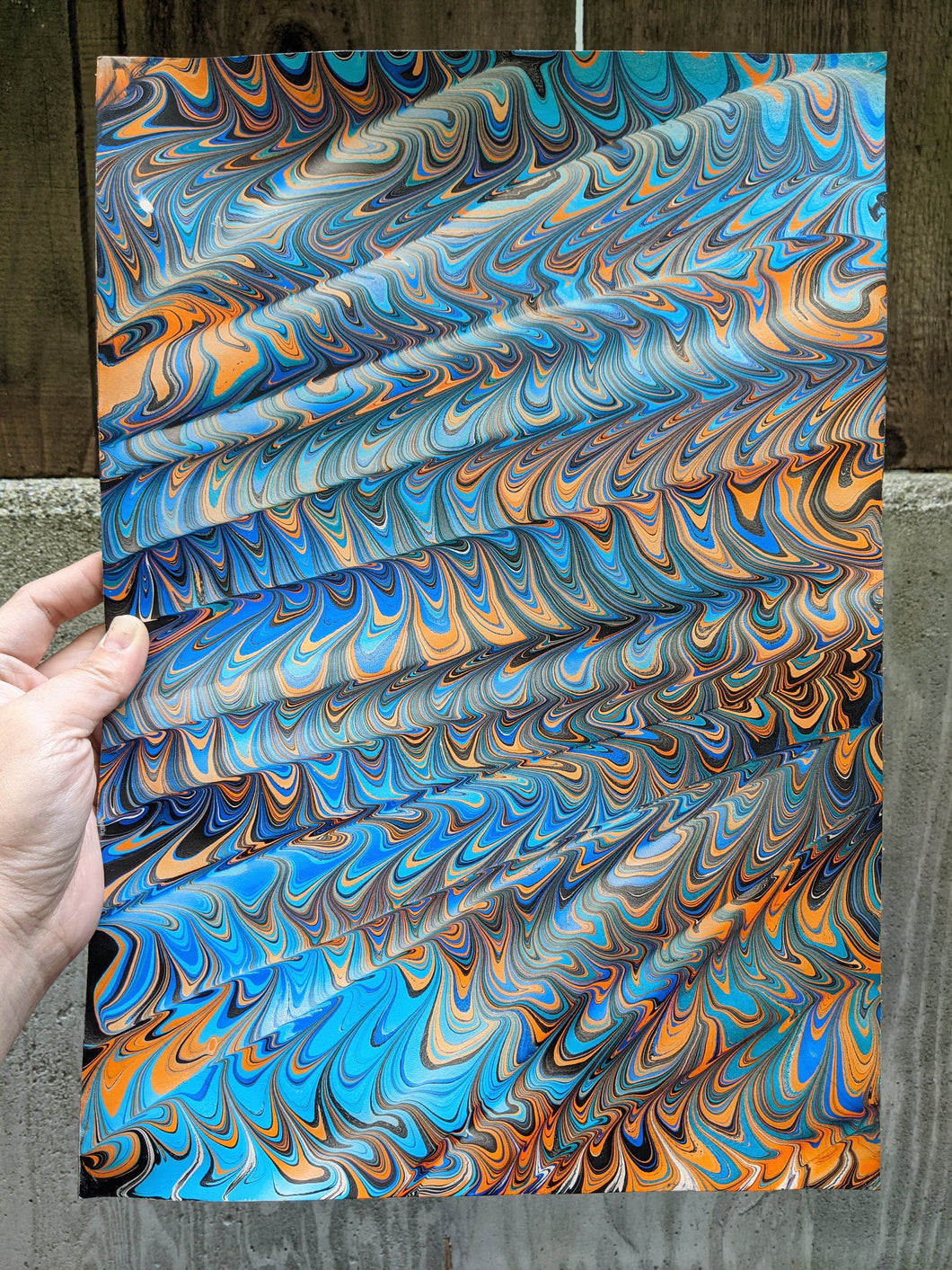 3/4 oz Marbled Veg Tan Leather Panel 11x16
