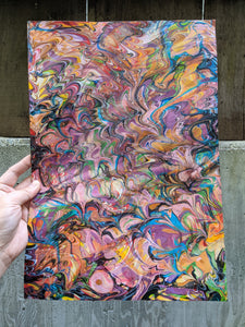 3/4 oz Double Marbled Veg Tan Leather Panel 11x16
