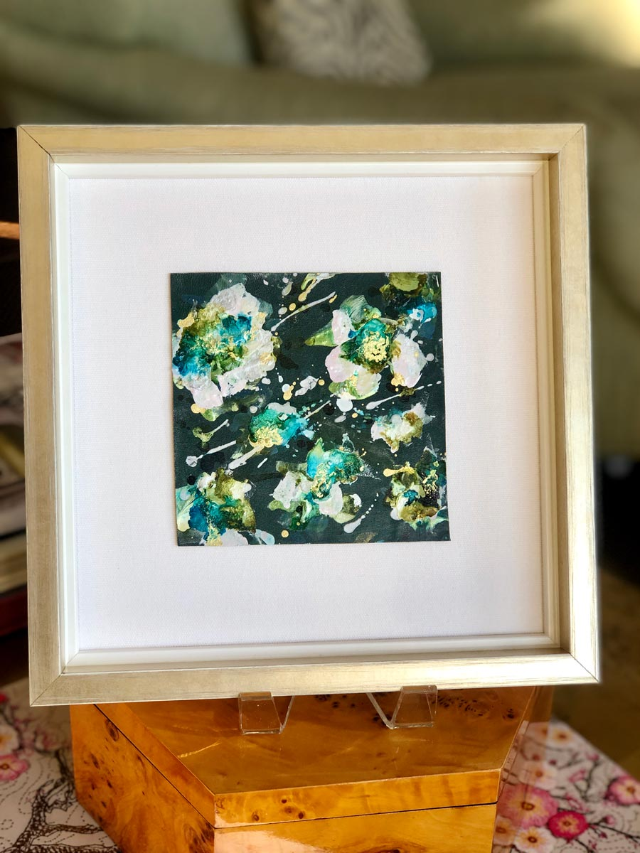 Aqua Flower Leatherette