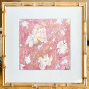 'English Rose 1' 13x13 Floral Abstract Painting