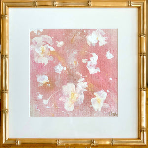 'English Rose 4' 13x13 Floral Abstract Painting