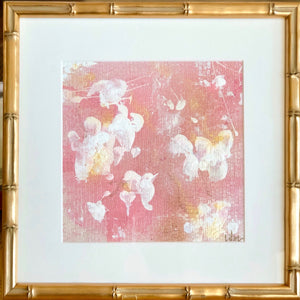 'English Rose 5' 13x13 Floral Abstract Painting