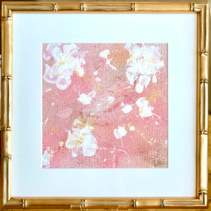 'English Rose 6' 13x13 Floral Abstract Painting