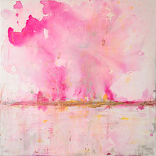 Load image into Gallery viewer, 'Flamingo Kid' 30x30 Abstract Painting