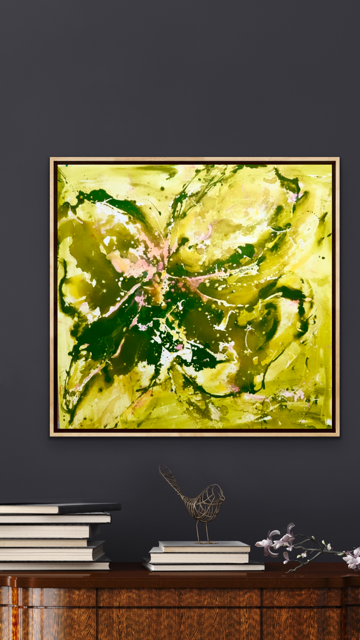 'Ivy Wild' 36x36 Abstract Painting
