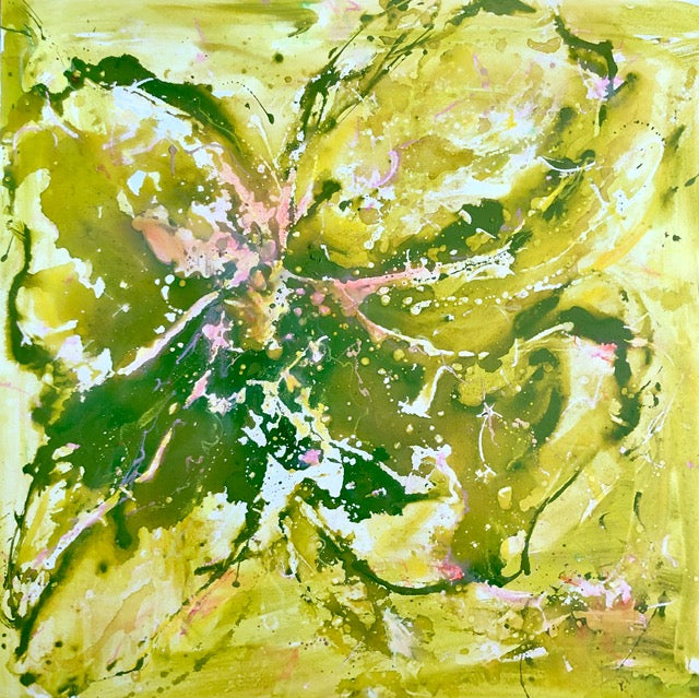 'Ivy Wild' 36x36- Abstract Painting