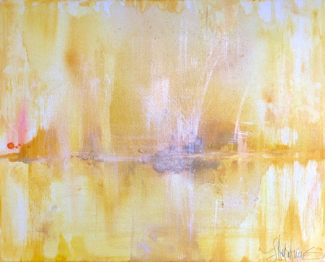 'Limoncello' 16x20 Abstract Painting