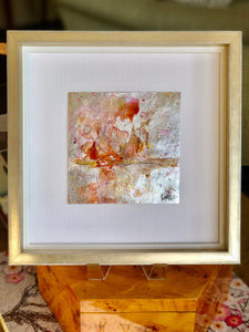 Orange Metallic Landscape Leatherette