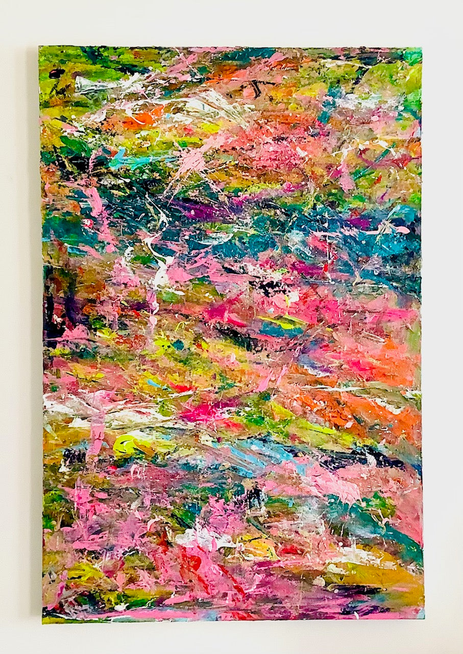 'Ribbons' 24x36 Abstract Painting
