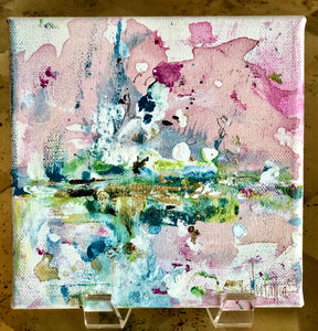 'Snowflake' 6x6 Abstract Painting