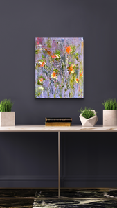 'Wildflowers II' 16 x 20 Abstract Painting