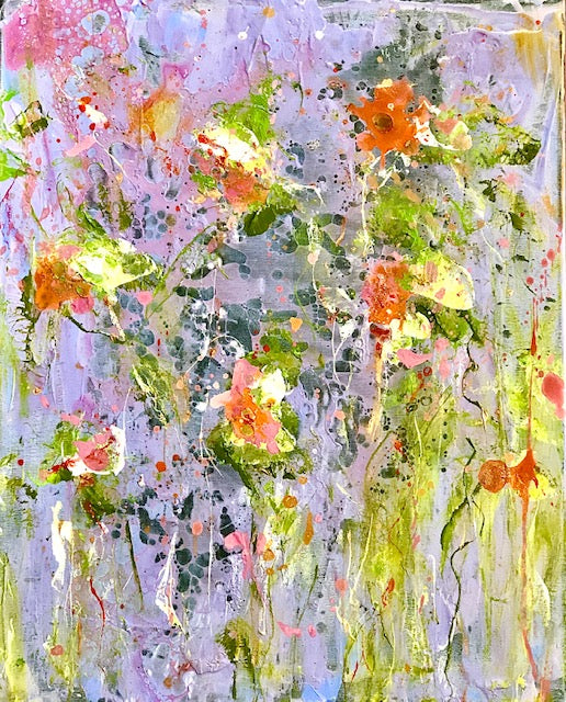 'Wildflowers I' 16 x 20 Abstract Painting