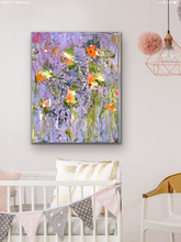 Load image into Gallery viewer, 'Wildflowers I' 16 x 20 Abstract Painting
