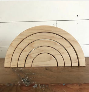 Natural Rainbow Stacker - 5 Arch