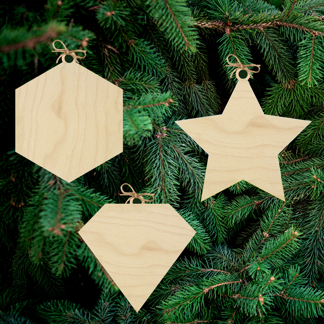 Blank Ornaments (Set of 3)