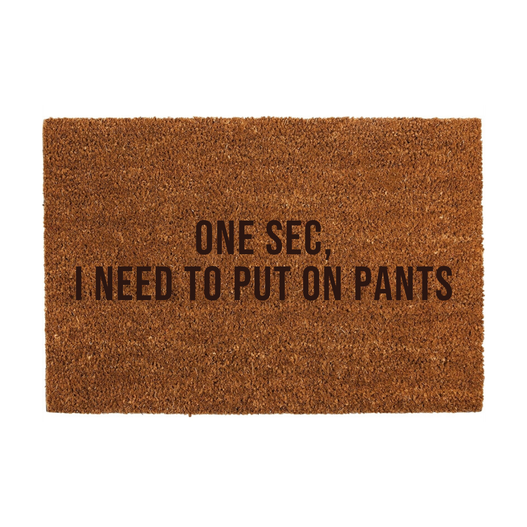 One Sec, Door Mat
