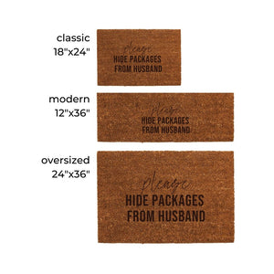 Hide Packages Door Mat