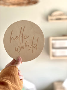 "Hello World 6"" disc"