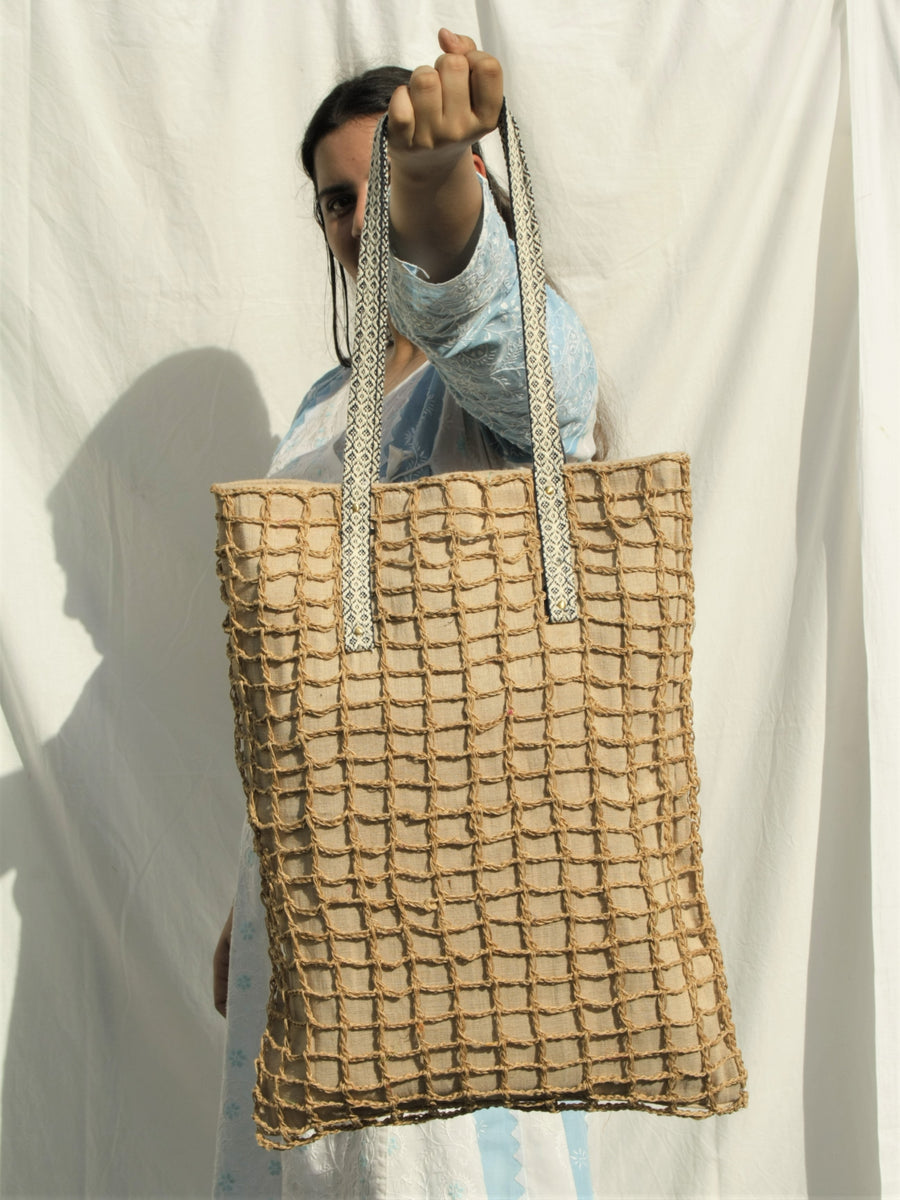 Open Work Jute Bag