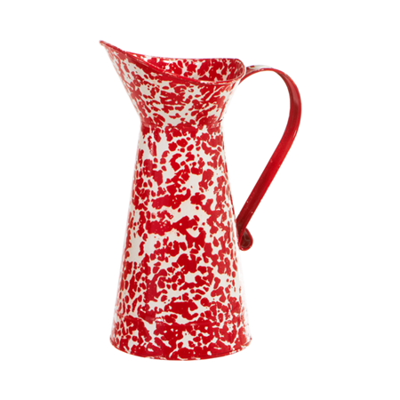 Red and White Splatter Pitcher