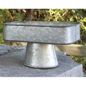 Galvanized Rectangle Tray on Stand