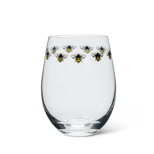 Bee Ring Stemless Wine Glass