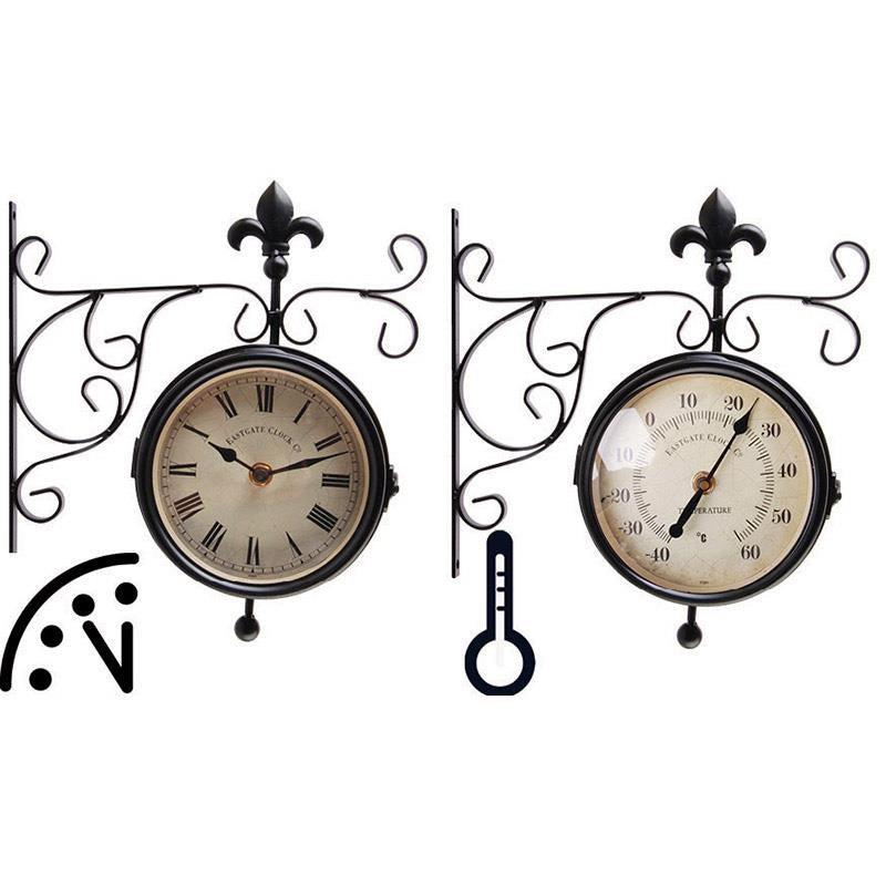 Stationclock and Thermometer
