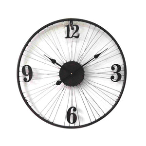 Metal Bicycle Wheel Clock