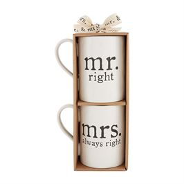 Mr. and Mrs Right Mugs