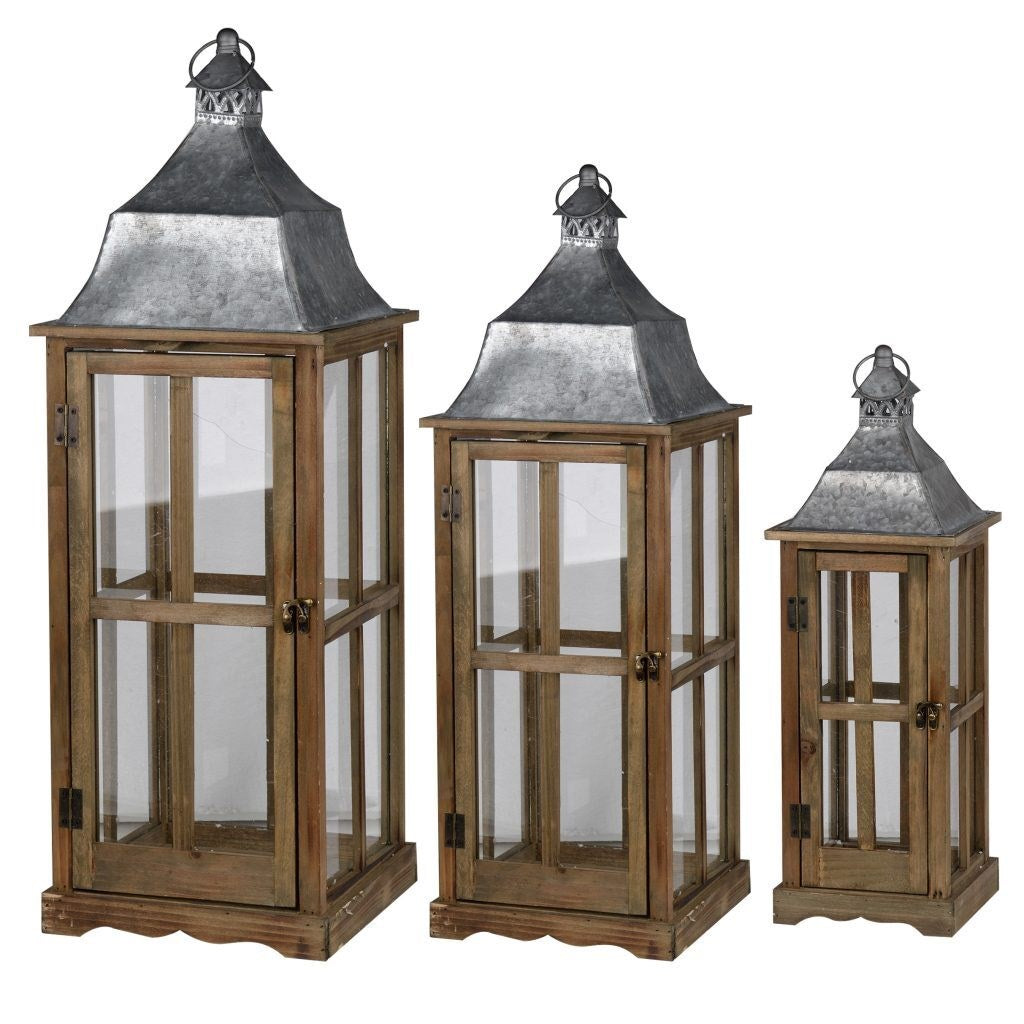 Window Scapes Lantern Small Brown