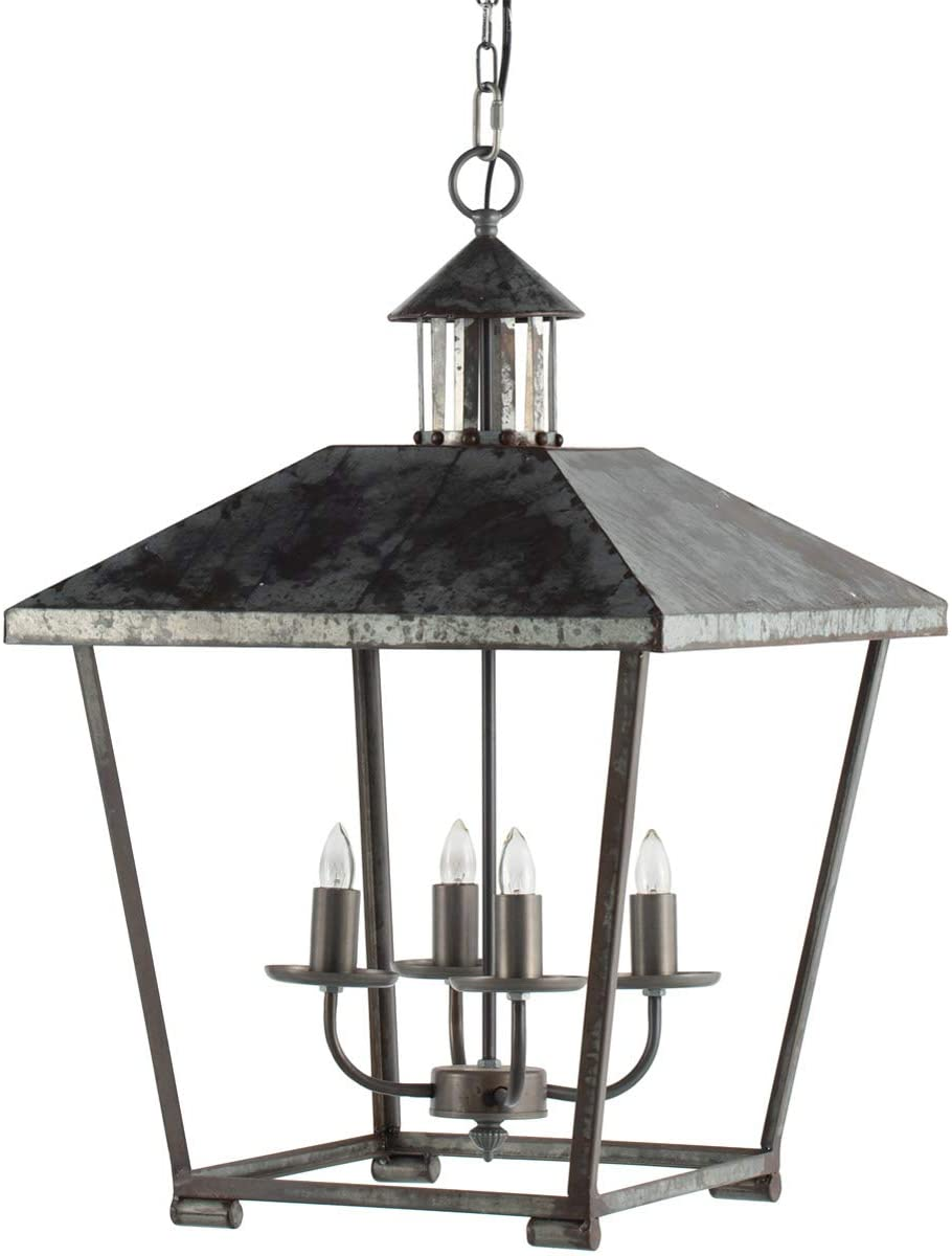 4-Light Metal Chandelier