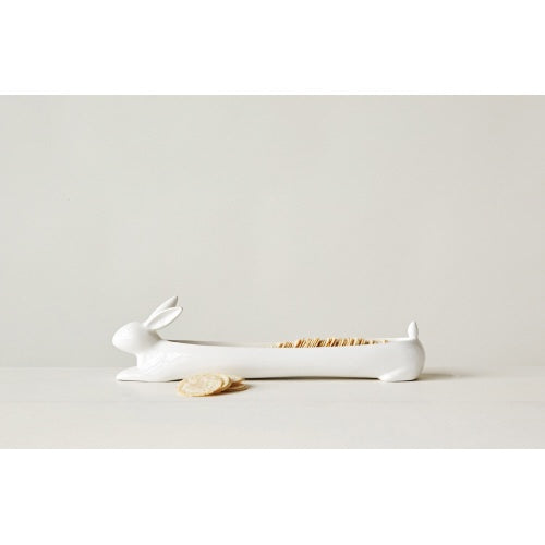Ceramic Rabbit Cracker Dish