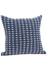 Navy/White Accent Cushion
