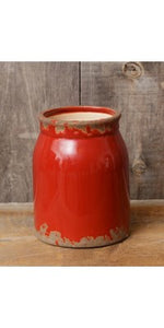 Pottery - Crock Red