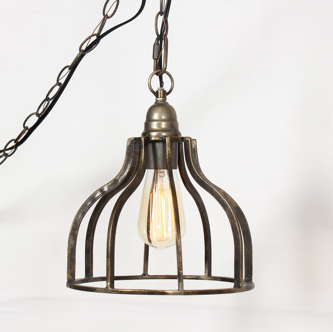 LUCAS 1-LIGHT DOME CAGE PENDANT