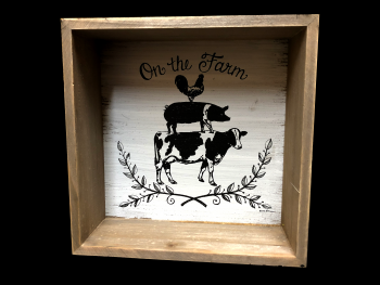On the Farm Shadow Box