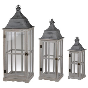 Window Scape Lantern Grey Large