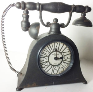 Metal Clock Telephone