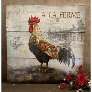Rooster Artwork Box Sign