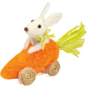 Bunny Riding In Carrot Car