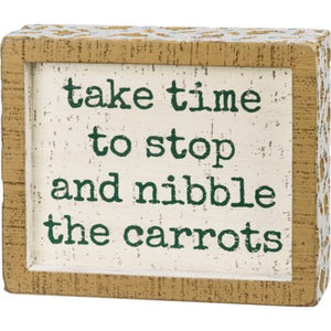 Box Sign - Nibble the Carrots