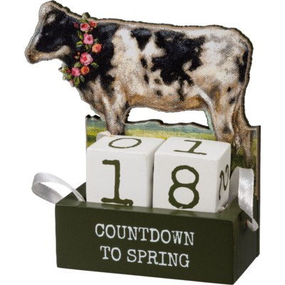 Cow Countdown - Block Sign