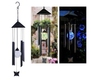 Solar Wind Chime with Glass Ball