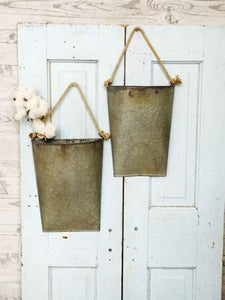 Metal Hanging Pocket Large