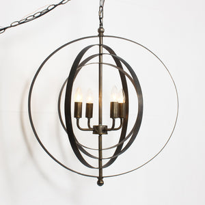 LILA 4-LIGHT ABSTRACT GLOBE CHANDELIER