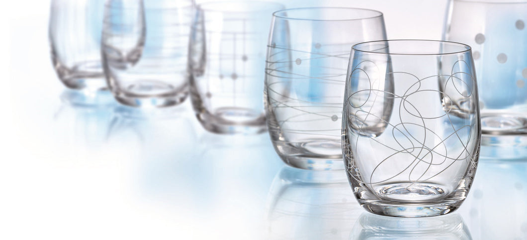 Elements Stemless Glass 6 Assorted