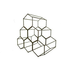 Wine Rack - Gold Hexagon