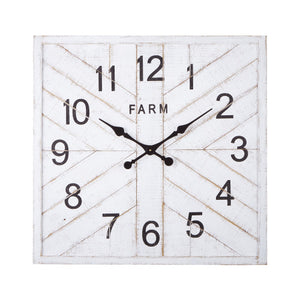 White Wood Clock 30.5""
